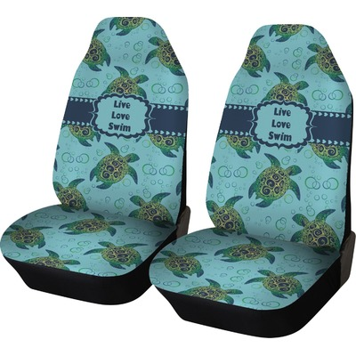 sea turtles car seat covers set of two personalized you customize it. Black Bedroom Furniture Sets. Home Design Ideas