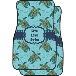 Sea Turtles Car Floor Mats (Front Seat) (Personalized)