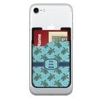 Sea Turtles 2-in-1 Cell Phone Credit Card Holder & Screen Cleaner (Personalized)