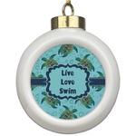 Sea Turtles Ceramic Ball Ornament