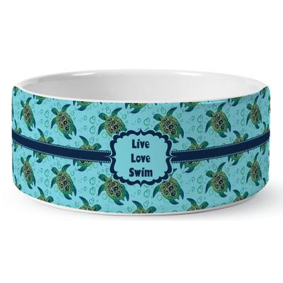 Sea Turtles Ceramic Pet Bowl (Personalized)