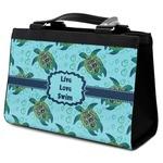 Sea Turtles Classic Tote Purse w/ Leather Trim (Personalized)
