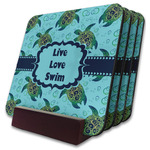 Sea Turtles Coaster Set w/ Stand (Personalized)