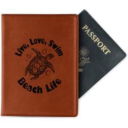 Sea Turtles Leatherette Passport Holder - Single Sided (Personalized)