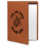 Sea Turtles Leatherette Portfolio with Notepad (Personalized)
