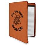 Sea Turtles Leatherette Zipper Portfolio with Notepad (Personalized)