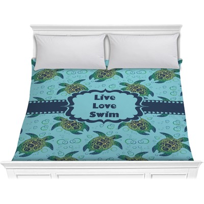 sea turtle bedding sea turtles comforter king personalized youcustomizeit 2136