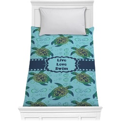 Sea Turtles Comforter - Twin XL (Personalized)