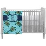 Sea Turtles Crib Comforter / Quilt (Personalized)