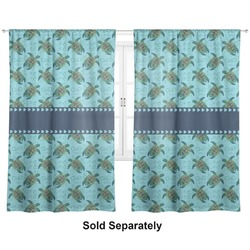 "Sea Turtles Curtains - 20""x54"" Panels - Lined (2 Panels Per Set) (Personalized)"