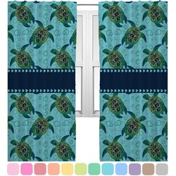 Sea Turtles Curtains (2 Panels Per Set) (Personalized)