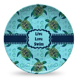 Sea Turtles Microwave Safe Plastic Plate - Composite Polymer (Personalized)