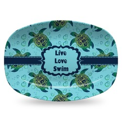 Sea Turtles Plastic Platter - Microwave & Oven Safe Composite Polymer (Personalized)