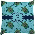Sea Turtles Decorative Pillow Case (Personalized)