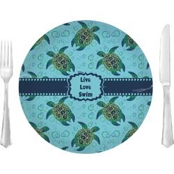 """Sea Turtles 10"""" Glass Lunch / Dinner Plates - Single or Set (Personalized)"""