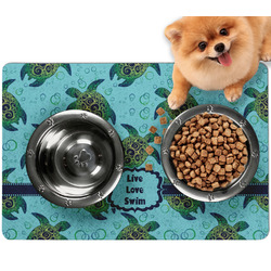 Sea Turtles Dog Food Mat - Small