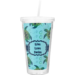 Sea Turtles Double Wall Tumbler with Straw (Personalized)