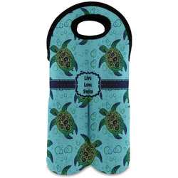 Sea Turtles Wine Tote Bag (2 Bottles) (Personalized)