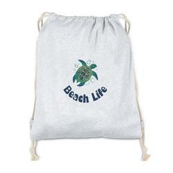 Sea Turtles Drawstring Backpack - Sweatshirt Fleece