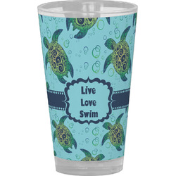 Sea Turtles Drinking / Pint Glass (Personalized)