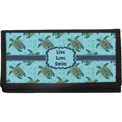 Sea Turtles Canvas Checkbook Cover (Personalized)