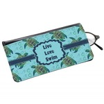 Sea Turtles Genuine Leather Eyeglass Case (Personalized)