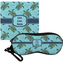 Sea Turtles Eyeglass Case & Cloth (Personalized)
