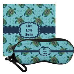 Sea Turtles Eyeglass Case & Cloth (Personalized)