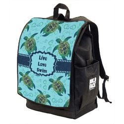 Sea Turtles Backpack w/ Front Flap  (Personalized)