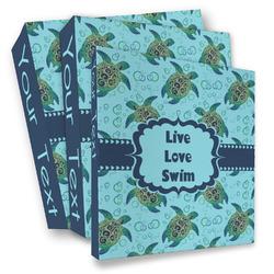 Sea Turtles 3 Ring Binder - Full Wrap