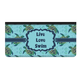 Sea Turtles Genuine Leather Checkbook Cover (Personalized)