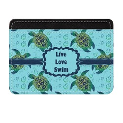 Sea Turtles Genuine Leather Front Pocket Wallet (Personalized)