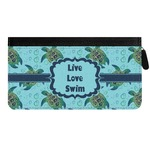 Sea Turtles Genuine Leather Ladies Zippered Wallet (Personalized)