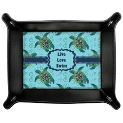 Sea Turtles Genuine Leather Valet Tray (Personalized)