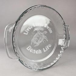 Sea Turtles Glass Pie Dish - 9.5in Round