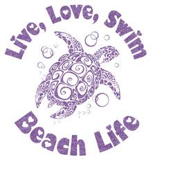 Sea Turtles Glitter Sticker Decal - Custom Sized (Personalized)
