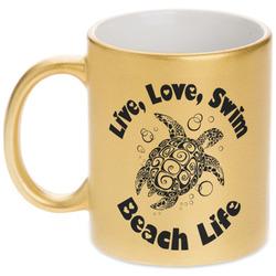 Sea Turtles Gold Mug (Personalized)