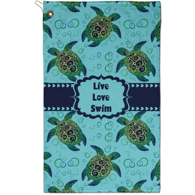 Sea Turtles Golf Towel - Full Print - Small
