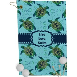 Sea Turtles Golf Towel - Full Print (Personalized)