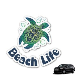 Sea Turtles Graphic Car Decal (Personalized)