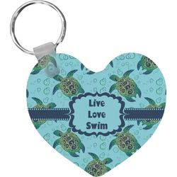 Sea Turtles Heart Keychain (Personalized)