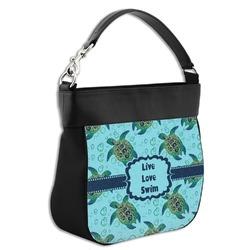 Sea Turtles Hobo Purse w/ Genuine Leather Trim (Personalized)