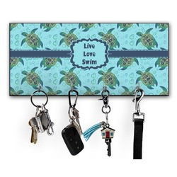 Sea Turtles Key Hanger w/ 4 Hooks (Personalized)