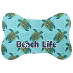 Sea Turtles Bone Shaped Dog Food Mat (Personalized)