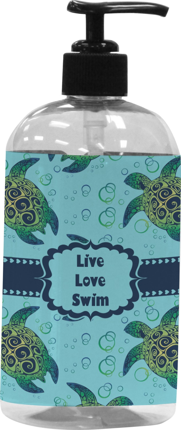 Sea Turtle Bathroom Accessories Sea Turtles Plastic Soap Lotion Dispenser Personalized Rnk Shops