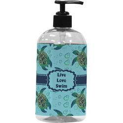 Sea Turtles Plastic Soap / Lotion Dispenser (16 oz - Large) (Personalized)