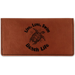 Sea Turtles Leatherette Checkbook Holder (Personalized)