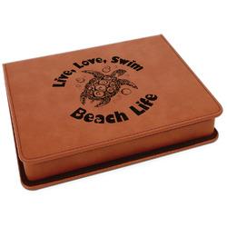 Sea Turtles Leatherette 4-Piece Wine Tool Set (Personalized)