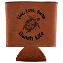 Sea Turtles Leatherette Can Sleeve (Personalized)
