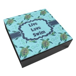 Sea Turtles Leatherette Keepsake Box - 8x8 (Personalized)